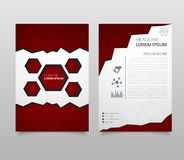 Abstract Triangle Brochure Flyer design in A4 size. Brochure template layout, cover design annual report, magazine, with geometric. Shapes, squares, triangles vector illustration
