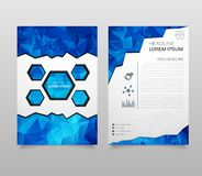 Abstract Triangle Brochure Flyer design in A4 size. Brochure template layout, cover design annual report, magazine, with geometric. Shapes, squares, triangles royalty free illustration