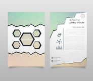 Abstract Triangle Brochure Flyer design in A4 size. Brochure template layout, cover design annual report, magazine, with geometric. Shapes, squares, triangles stock illustration