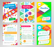 Abstract Triangle Brochure Flyer design vector template in A4 si Royalty Free Stock Images
