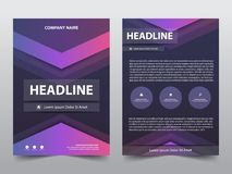 Abstract triangle brochure poster,flyer annual report template. In a4 size, ui design combine with poster Stock Illustration