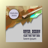 Abstract Triangle Business Brochure Flyer design Royalty Free Stock Photography
