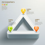 Abstract triangle chart infographics Stock Photos