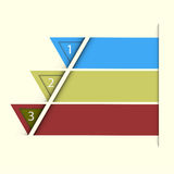 Abstract triangle choice option. EPS 10 Vector Royalty Free Stock Image