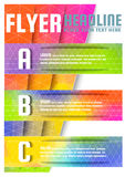 Abstract Triangle Colorful Brochure Flyer design vector template in A4 size Stock Images