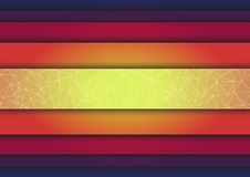 Abstract triangle  colorful stripes background Royalty Free Stock Image