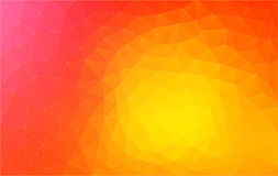 Abstract triangle 2D geometric orange background Royalty Free Stock Image
