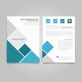 Abstract Triangle design vector template layout for magazine. Royalty Free Stock Images