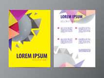 Abstract Triangle design vector template layout Stock Photography
