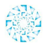 Abstract triangle forming circle logo illustration royalty free illustration