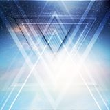 Abstract triangle future vector background Royalty Free Stock Image