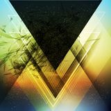 Abstract triangle future vector background Royalty Free Stock Images