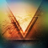 Abstract triangle future vector background Stock Photo