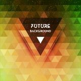 Abstract triangle future vector background Stock Images