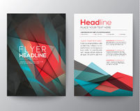 Free Abstract Triangle Geometric Brochure Flyer Design Layout Template Stock Images - 45549994