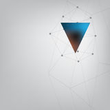 Abstract triangle with geometric lines Stock Photos