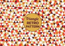 Abstract triangle geometric retro pattern backgroun vector illustration