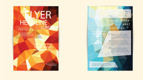 Abstract Triangle Geometric Vector Brochure Template. Royalty Free Stock Photos