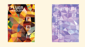 Abstract Triangle Geometric Vector Brochure Template. Stock Photos