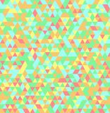 Abstract Triangle Geometrical Seamless Summer Background Royalty Free Stock Photos