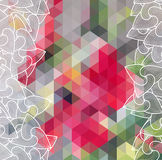 Abstract Triangle Geometrical Multicolored Background, Vector Illustration EPS10 Royalty Free Stock Photo