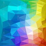 Abstract Triangle Geometrical Multicolored Background, Vector Illustration EPS10 Royalty Free Stock Photos