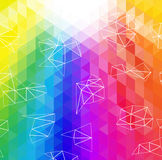 Abstract Triangle Geometrical Multicolored Background, Vector Illustration EPS10 Royalty Free Stock Images