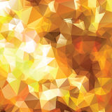 Abstract triangle gold texture Stock Photography