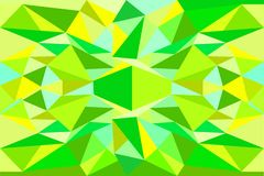 Abstract triangle green, yellow, blue background. Stock vector illustration Stock Photos