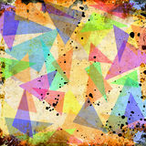 Abstract triangle grunge background Stock Images