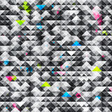 Abstract triangle grunge seamless pattern. (eps 10 Stock Photo