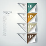 Abstract triangle infographics Royalty Free Stock Photos