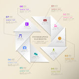 Abstract triangle label infographics Royalty Free Stock Photography