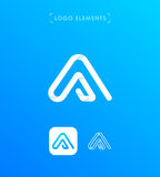 Abstract triangle letter A origami style logo template. Applicat Royalty Free Stock Image