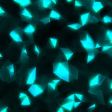 Abstract triangle lights background Stock Photography