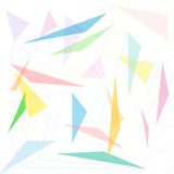Abstract triangle and line background Stock Images