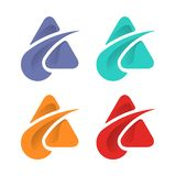 Abstract triangle logo design template stock photo