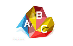 Abstract triangle low poly infographic template. Vector background for workflow layout, diagram, number options or web design vector illustration