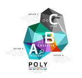 Abstract triangle low poly infographic template. Vector background for workflow layout, diagram, number options or web design stock illustration