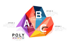 Abstract triangle low poly infographic template Royalty Free Stock Photos