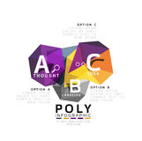 Abstract triangle low poly infographic template Royalty Free Stock Photography