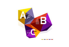 Abstract triangle low poly infographic template Stock Photo