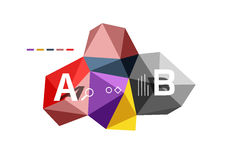 Abstract triangle low poly infographic template Stock Photography