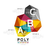 Abstract triangle low poly infographic template. Vector background for workflow layout, diagram, number options or web design royalty free illustration