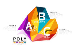 Abstract triangle low poly infographic template Royalty Free Stock Photo