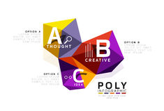 Abstract triangle low poly infographic template Royalty Free Stock Image
