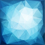 Abstract triangle mosaic background with dotted line structure Royalty Free Stock Photography