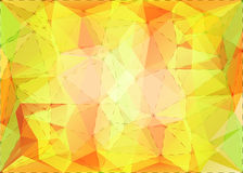 Abstract triangle mosaic background with dotted line structure Stock Image