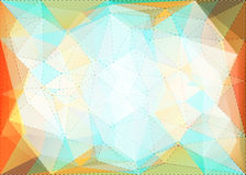 Abstract triangle mosaic background with dotted line structure Stock Photo