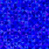 Abstract triangle mosaic background - vector graphic from triangles in blue tones Stock Photography